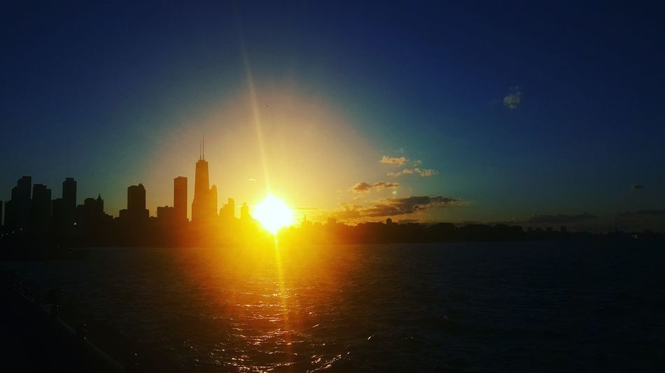 Chicago Chicago Skyline Silhouette Sunset Mykindoftown