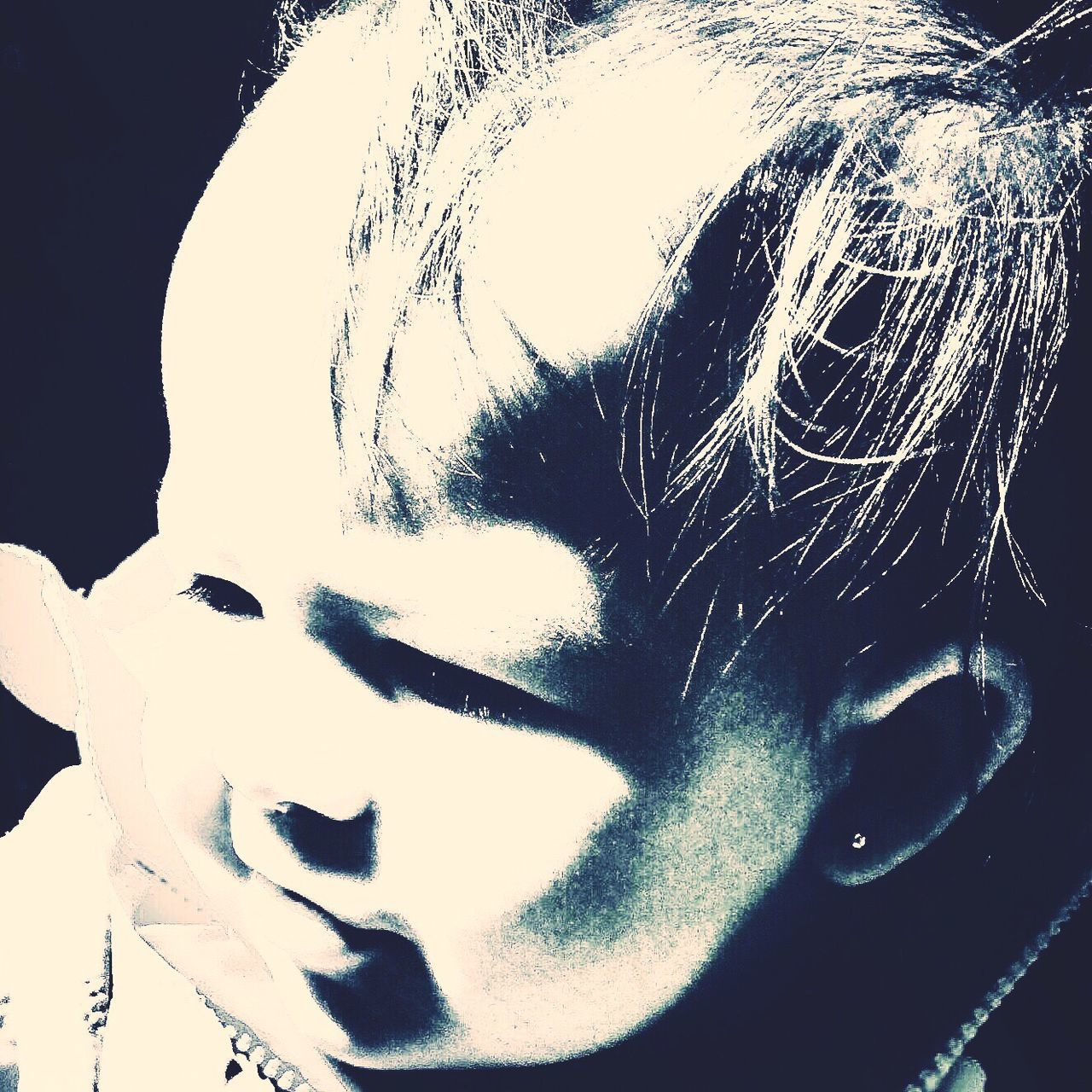 Baby girl portrait Human Face Close-up Portrait Toddlerlife Upclose And Personal IPhoneography Side View