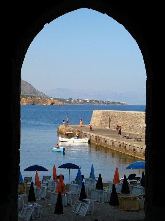 Arch Beauty In Nature Clear Sky Day Eolian Islands Indoors  Nature Nautical Vessel No People Scenics Sea Sicilian Memories Sky Summer Memories Travel Destinations Water