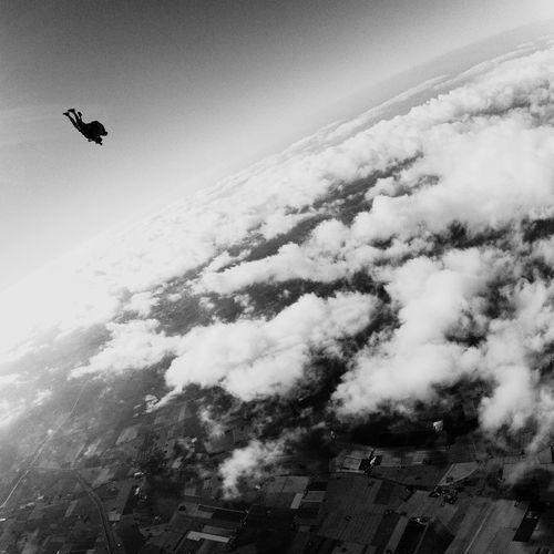 Flying Parachute Parachute Jump