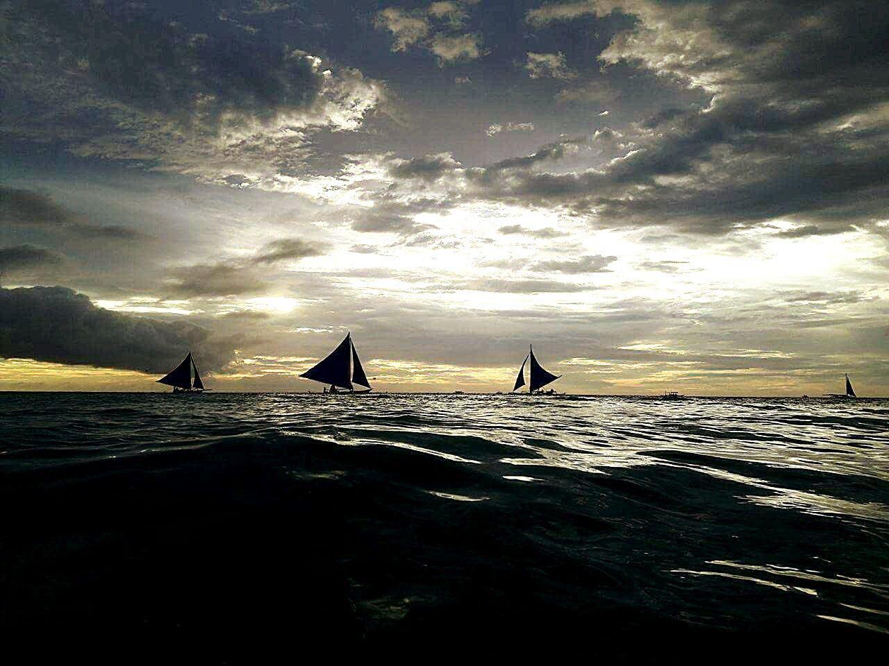 Sea Travel Water Sunset Nautical Vessel Sailing Wave Sailboat No People Outdoors Nature Regatta Day