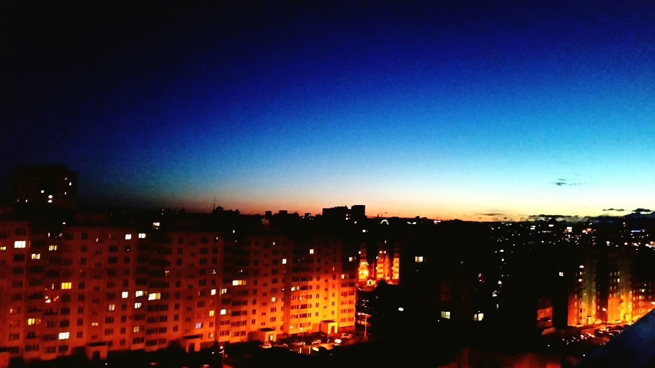The Architect - 2017 EyeEm Awards Illuminated Night Sunset City Cityscape No People Outdoors Blue Sky Nature Urban Skyline Building Exterior Backgrounds Clear Sky Architecture Ночь Город с высоты киров Neon Astronomy EyeEmNewHere Live For The Story