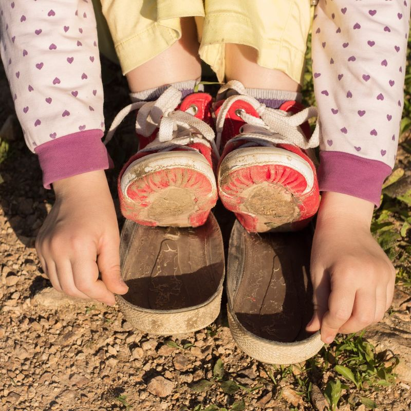 Worn gym shoes Gym Shoes Gymshoes Torn Soles Worn Hands Child Outdoors Childhood The OO Mission On The Way