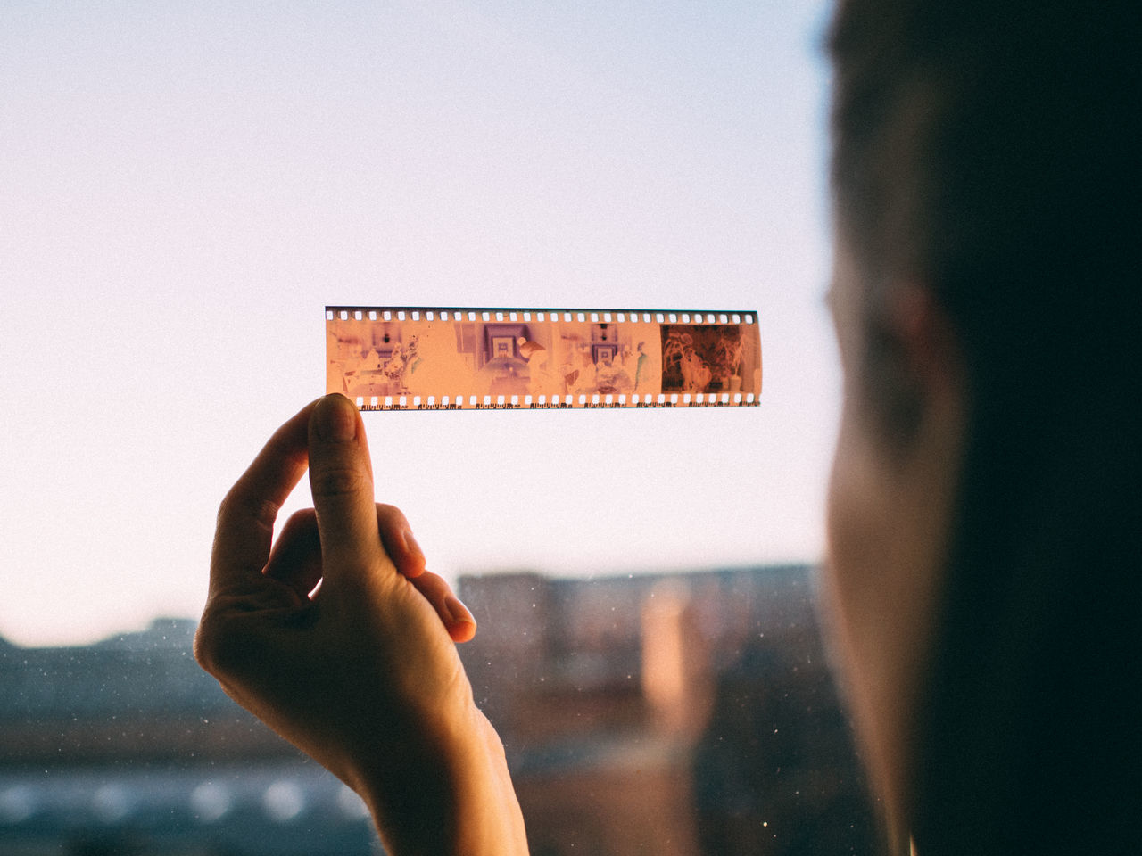 35mm 35mm film analog Analogue Photography close-up day holding human hand negative photography