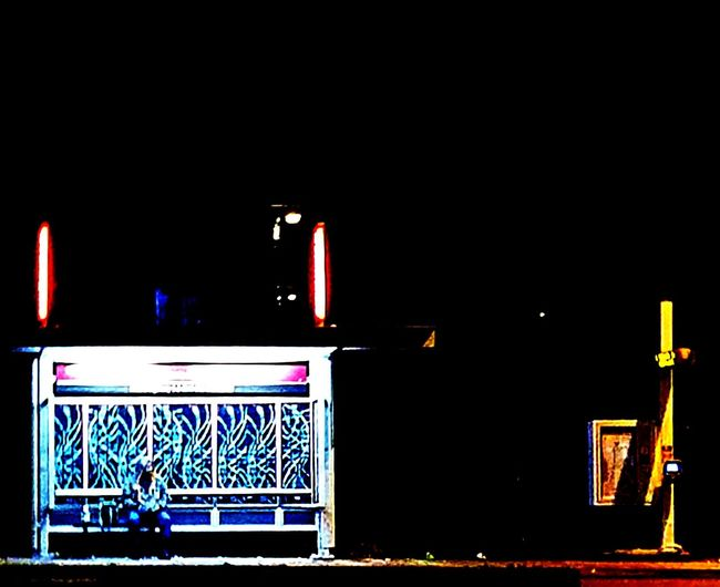 The bus stop. Night Illuminated City Outdoors Building Exterior Neon People Adult Washington State Seattle, Washington Puget Sound, Washington Veiwpoint Of A Homeless Seattle Girl
