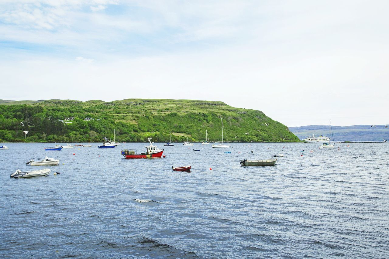 Beautiful stock photos of scotland, Beauty In Nature, Boat, Day, Grass