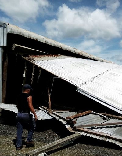 A short,Hi from Mackay Farleigh-Habana Rd...Queensland Australia Cyclone Debbie,at a CAT 4...may have taken,Our Small Town,and thrashed Us.The Media,may have forgotten,to Tell Our Story. But We Know.Thank You to @ceedeeznutz,@suey69 Cloud - Sky Outdoors Cyclone Damage Close-up Family Got To Love Them Fragility Love And Hope