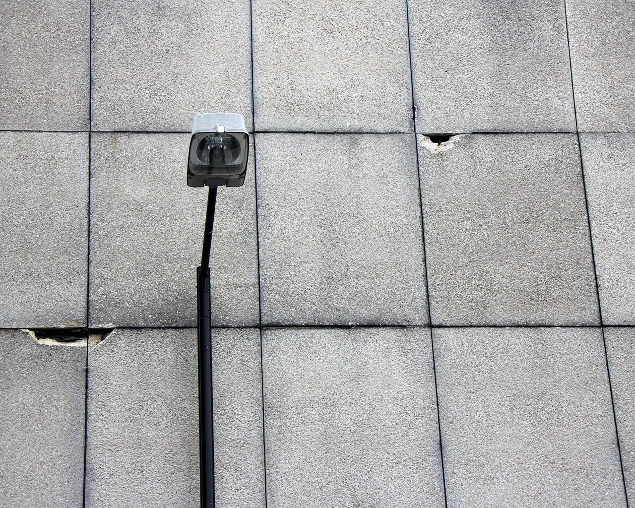 Architecture Big Brother - Orwellian Concept Broken Brutalist Concrete Concrete Jungle Cracked Day Grey Lamp Post Lamppost No People Outdoors Pattern Security Camera Textured