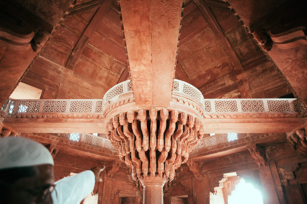 architecture, history, built structure, travel destinations, travel, ceiling, architectural column, tourism, place of worship, religion, indoors, low angle view, ancient, ancient civilization, day, no people