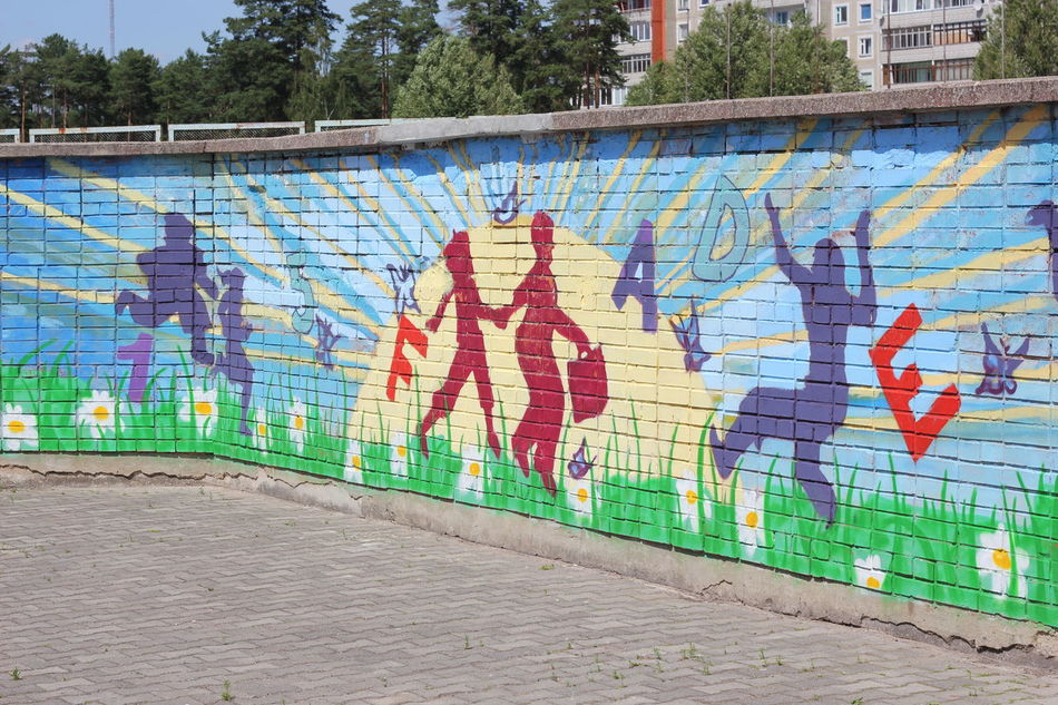 Graffiti Multi Colored Outdoors Painting Paiting Playgournd Spray Paint Street Art Visadar Wall - Building Feature Water