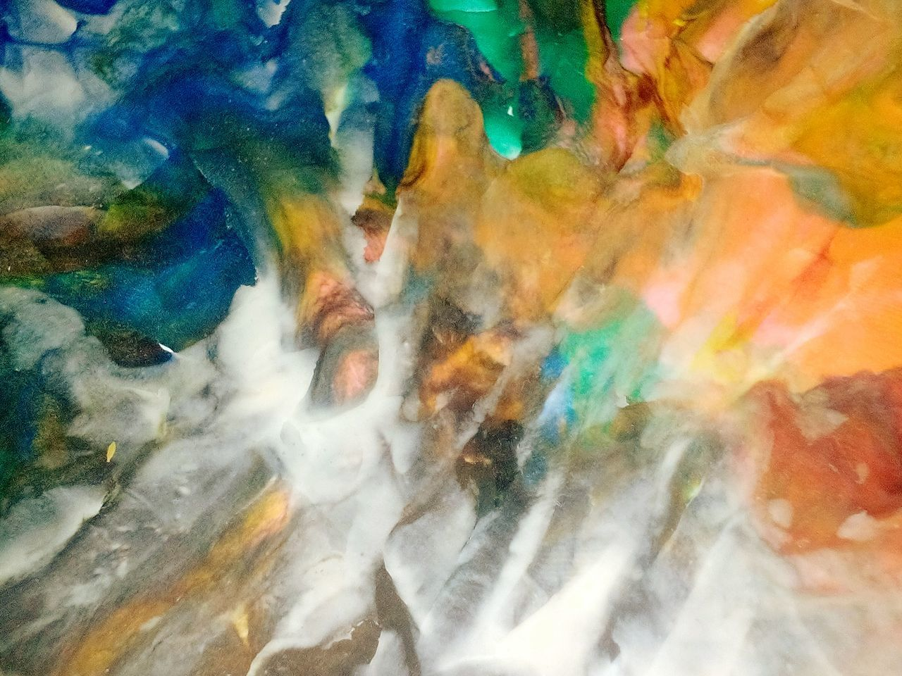 full frame, multi colored, backgrounds, water, no people, outdoors, day, close-up, oil spill