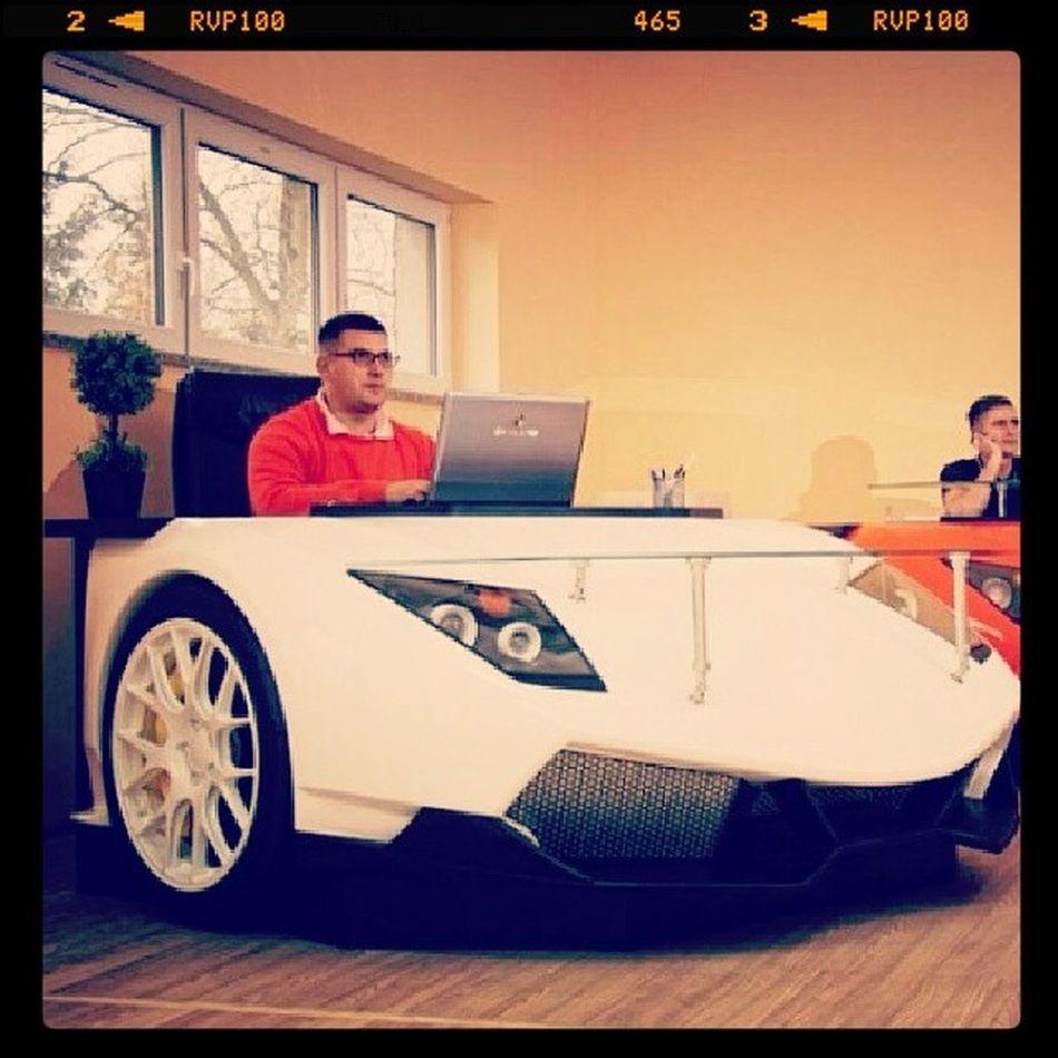 Maybe I would finally start doing something on the desk. Cardesk Carporn Lamborghini @carinstagram