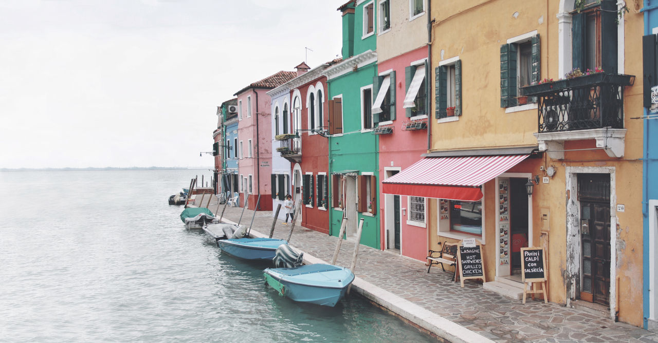 Architecture Boat Built Structure Burano, Italy Canal City Life Colorful Colorfull Colorfull Houses Colors Façade Nautical Vessel Residential Building Residential District Residential Structure Sea Sky Transportation Water Waterfront Miles Away Minimalist Architecture Cut And Paste Neighborhood Map Let's Go. Together.