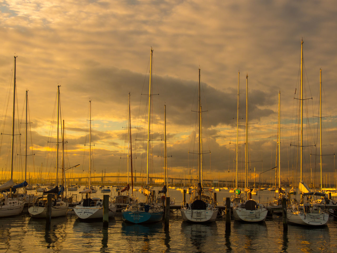 Australian Landscape Boats⛵️ Ocean Front, Ocean View, Beach Front, Beach Sea Side Oceanside Sailboat Sunset Wall Art Water Reflections Williamstown.Vic