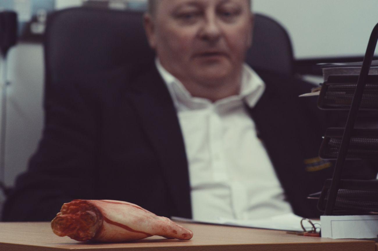 Focus Object Fixation Don Gangster Mafia  Retaliation Eye For An Eye Capo Mutilation Hand Gore Butcher Halloween