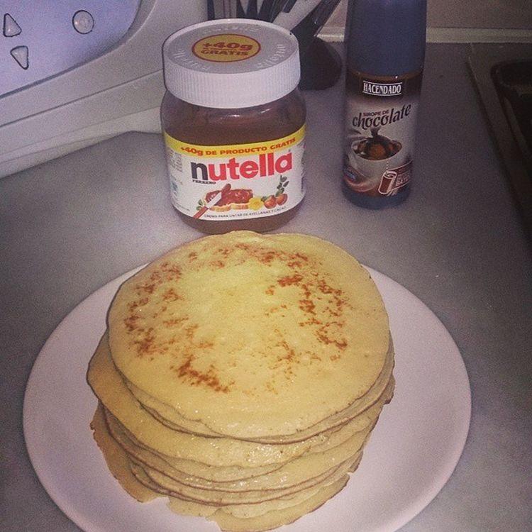 Això si que és començar un cap de setmana de bon peu. Després de molt temps sense esmorzar tortites. ?? Goodmorning Goodsaturday Tortitas Nutella elboncuiner