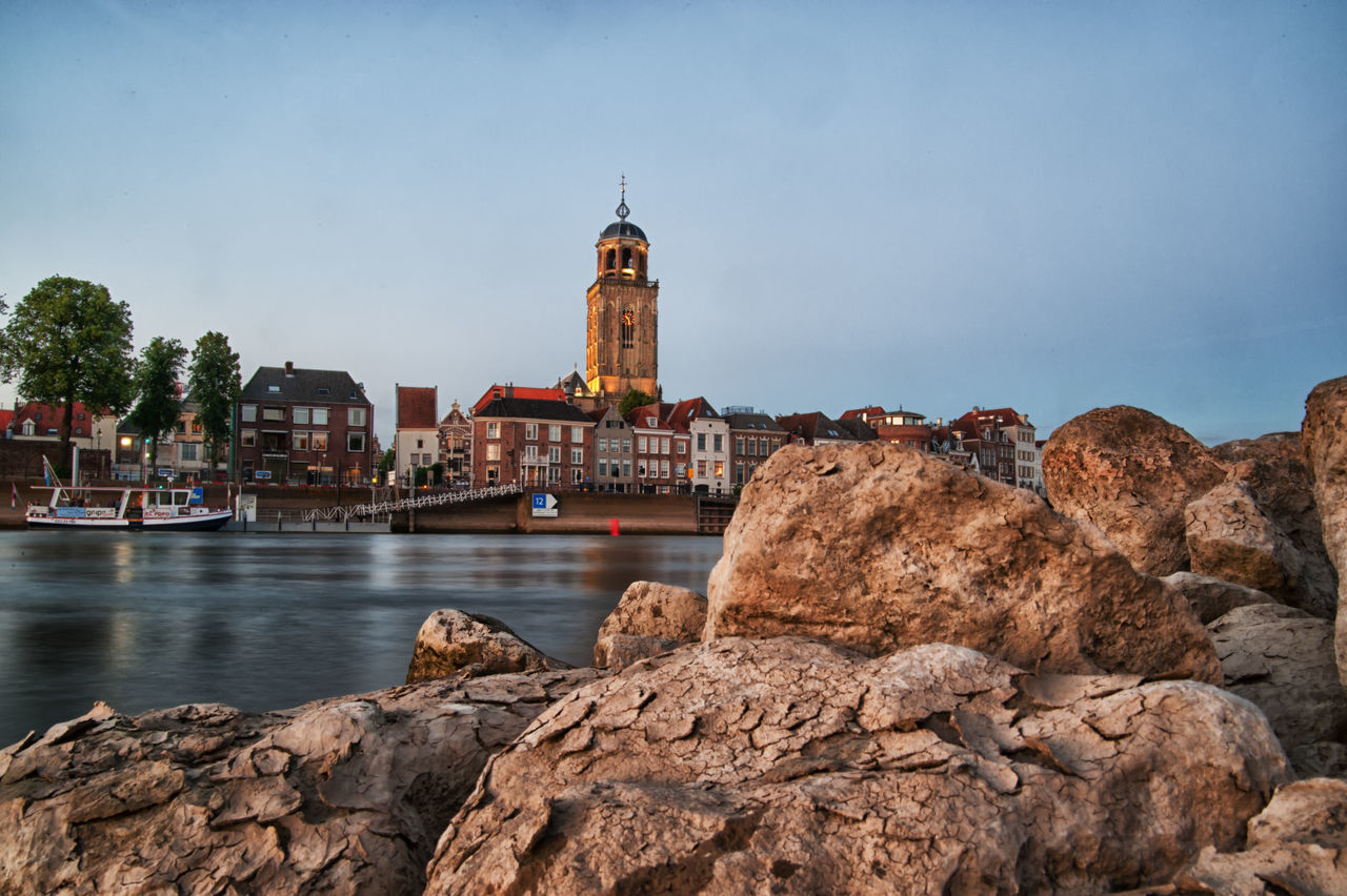 Deventer cityscape Architecture Building Exterior Built Structure City Clear Sky Day Dome Nautical Vessel No People Outdoors Place Of Worship Sky Travel Destinations Water Waterfront