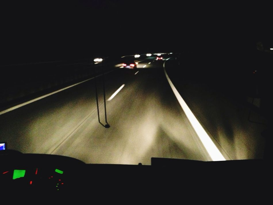 Riding back to Berlin in the First Row . Autobahn