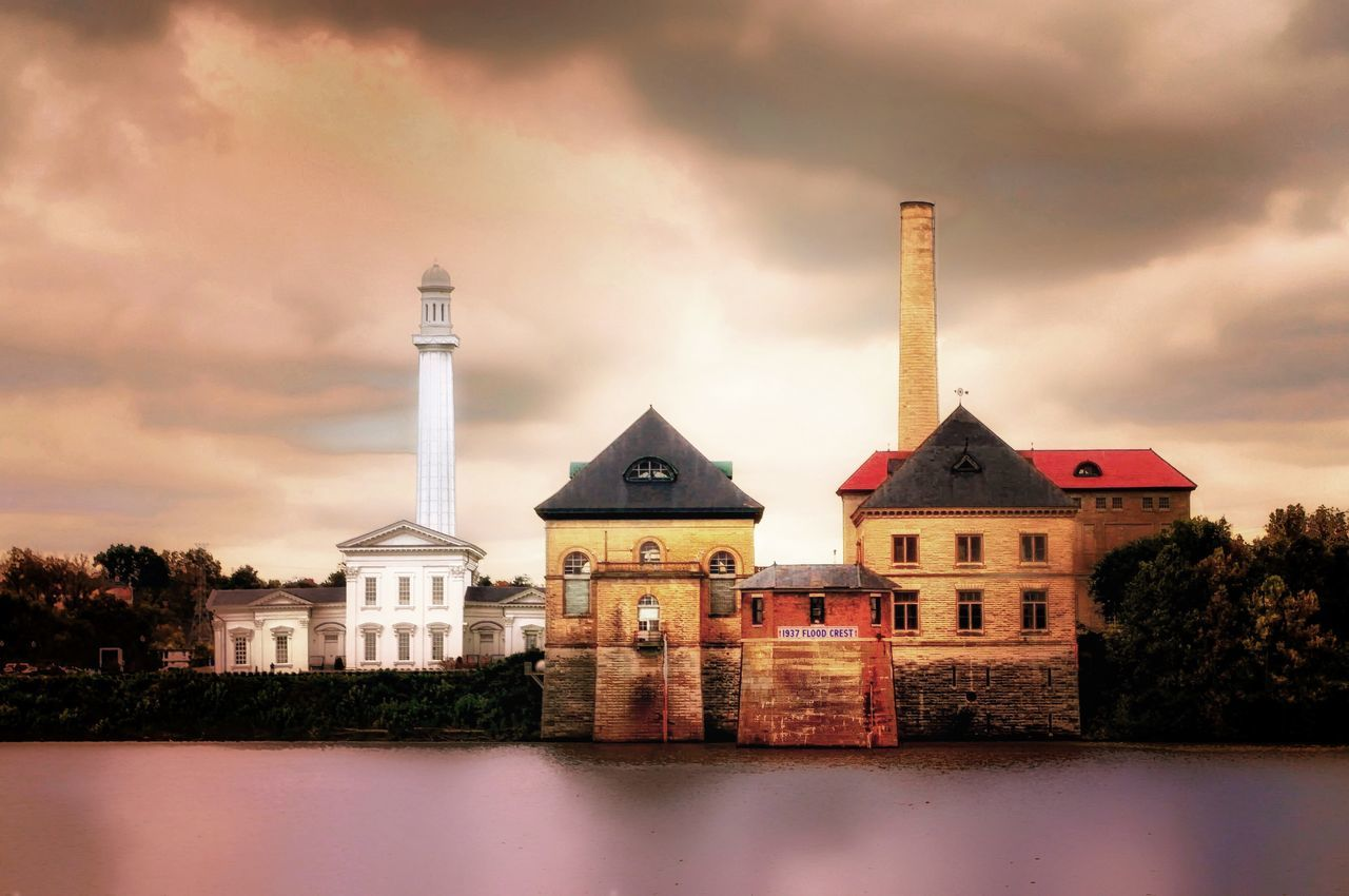 Louisville Water Company Tower and Smoke Stack Historical Building Ohio River