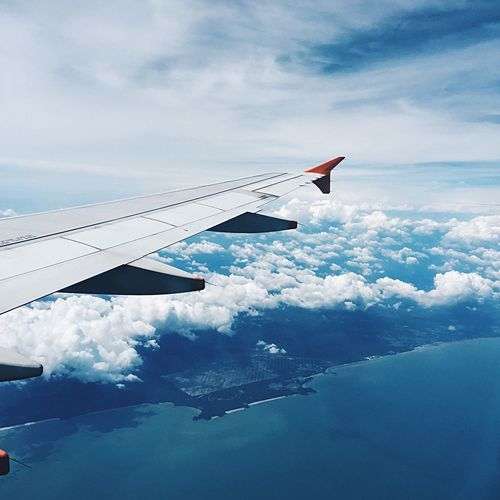 Airplane Cloud - Sky Flying Travel Journey Airplane Wing Air Vehicle