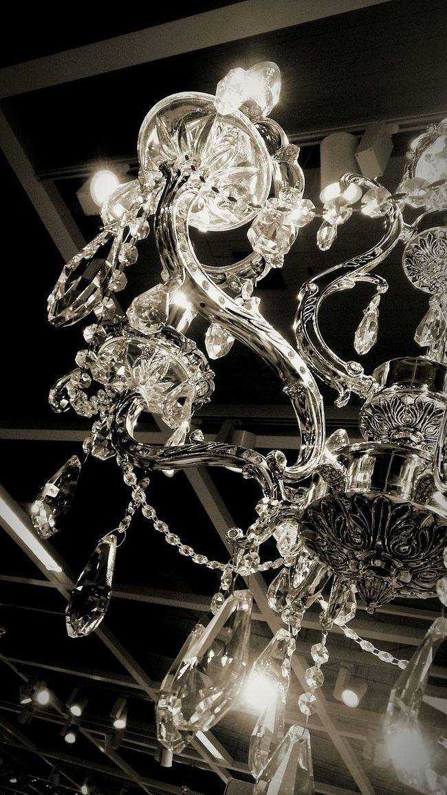 Blackandwhite Black & White Monochrome Light And Shadow Light Chandelier