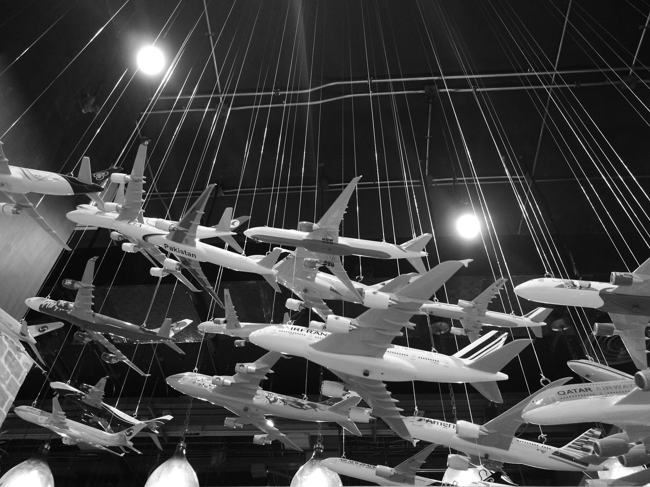 Airplane mode Airplane Toys Huawei P9 Plus Black & White Built Structure Architecture Streetphotography Photography Mall Flying