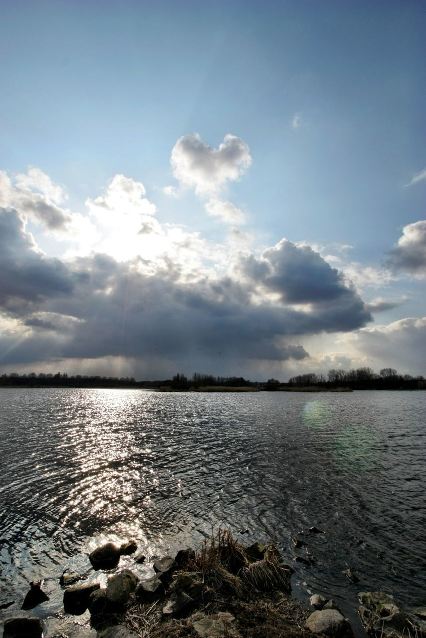 sky, water, cloud - sky, nature, tranquility, scenics, no people, beauty in nature, sea, outdoors, tranquil scene, day, horizon over water, scenery