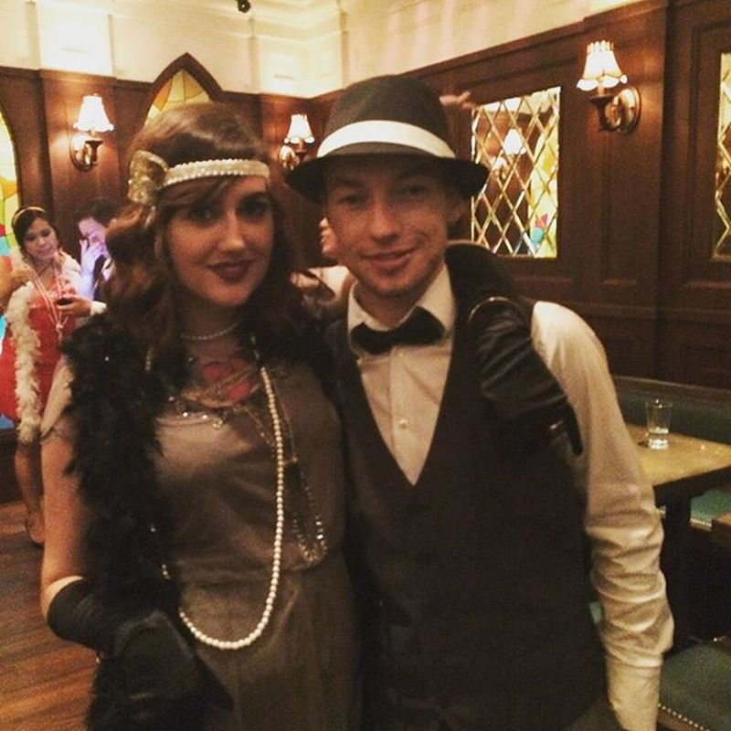 LOVED dressing 1920s tonight 1920s Flapper Fancydress Dressup Timetravel Throughtheages Ootd Couple Love Boyfriend Featherboa Feathers Wewonbestdressed Thecouplethat Couplethat Couplesofinstagram Vintage Vintagestyle