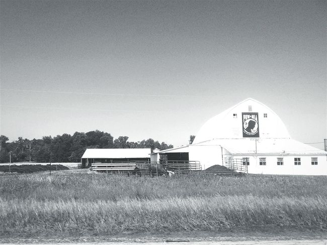 Black And White Road Trip Georgia Via Michigan POW MIA Barn