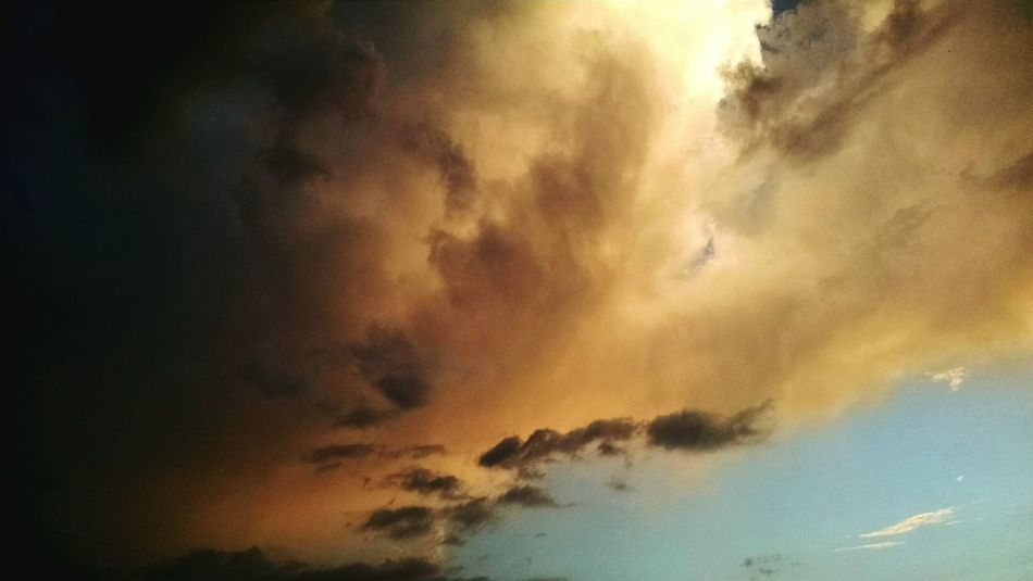 Fire In The Sky Clouds On Fire Check This Out Clouds And Sky Sunlight Sunset Cloudscape Sky_collection Sky And Clouds