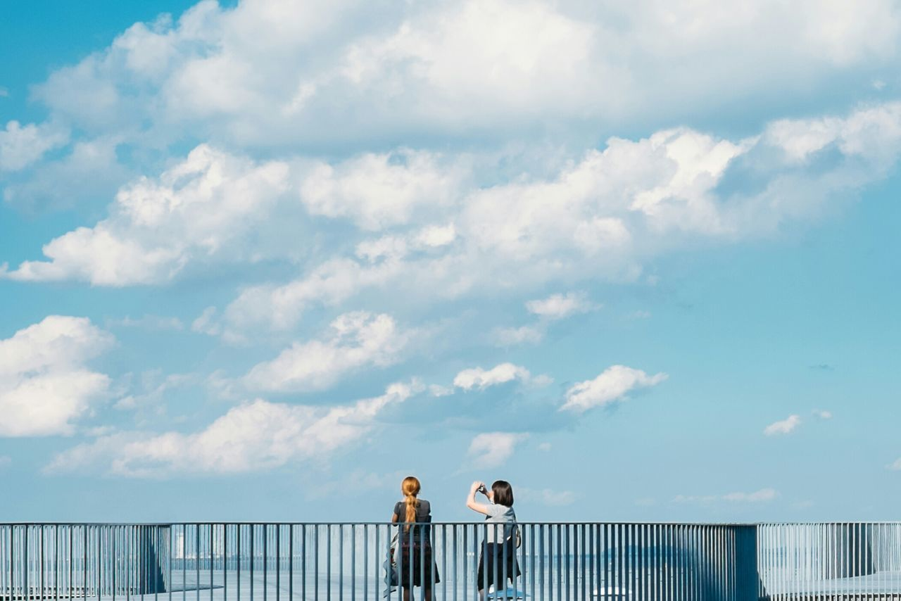 Beautiful stock photos of cloud, railing, men, rear view, standing