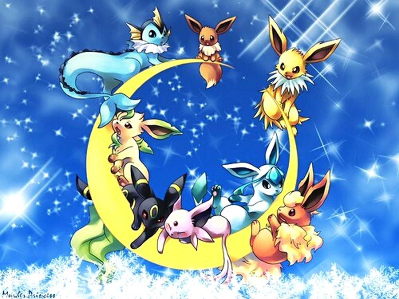 HD Draw Dessin Background Backgrounds No People Sky Pokémon Eeveelutions Horizontal