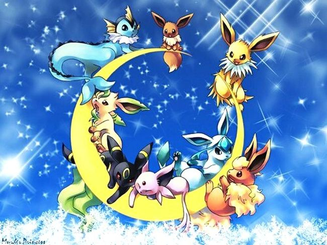 HD Draw Dessin Background Backgrounds No People Sky Pokémon Eeveelutions Horizontal