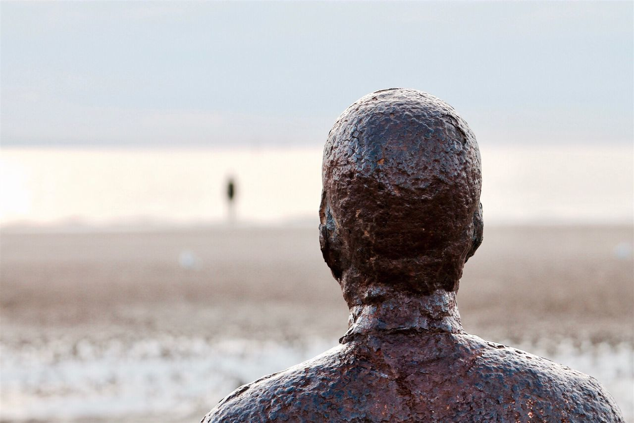 Taking Pictures Sea Beach Water Focus On Foreground Horizon Over Water Statue Tranquility Nature Tranquil Scene Sky What Who Where Beauty In Nature Scenics Walking Around Sculpture Crosby Beach Anotherplace Photography Eyeemphotography Taking Photos Liverpool Weekend Activities Silhouette EyeEm Nature Lover
