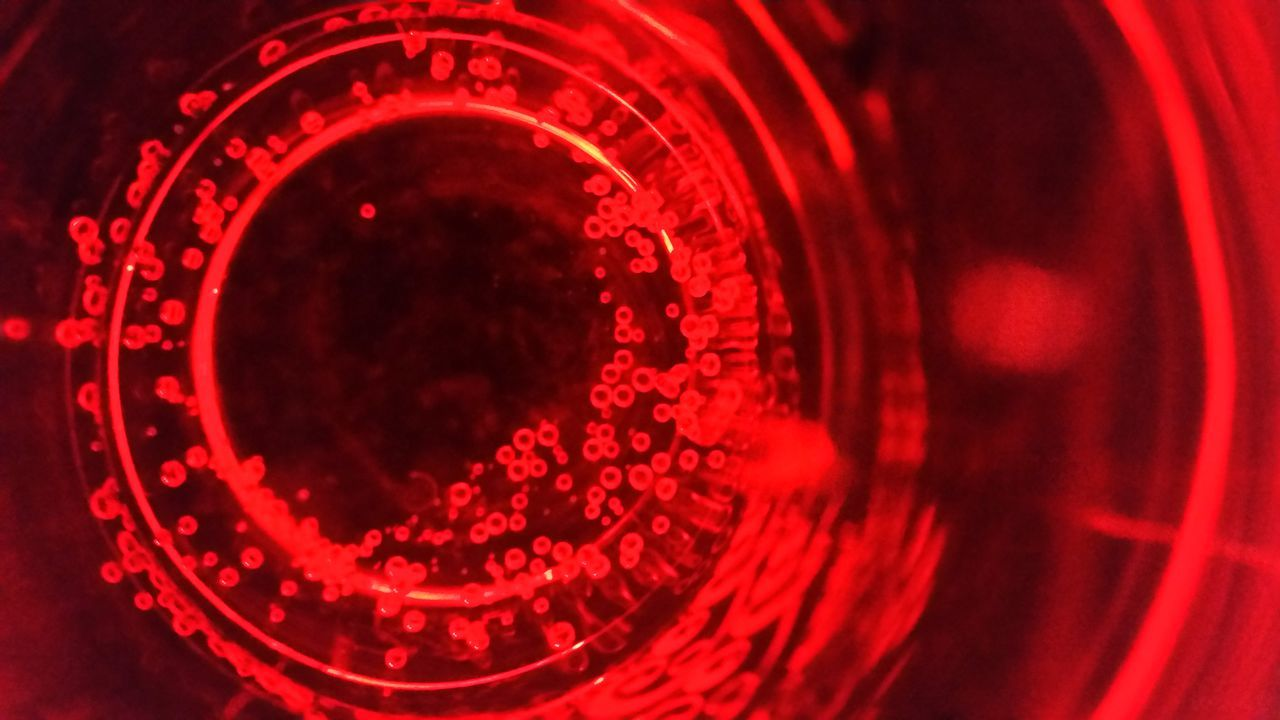 Red Close-up Drinking Glass Concentric Indoors  No People Eye4photography  EyeEm Gallery EyeEm EyeEmBestPics EyeEm Best Shots Raspberrylemonade Bubbles Bubbles In Water Bottom Of The Glass EyeEmNewHere
