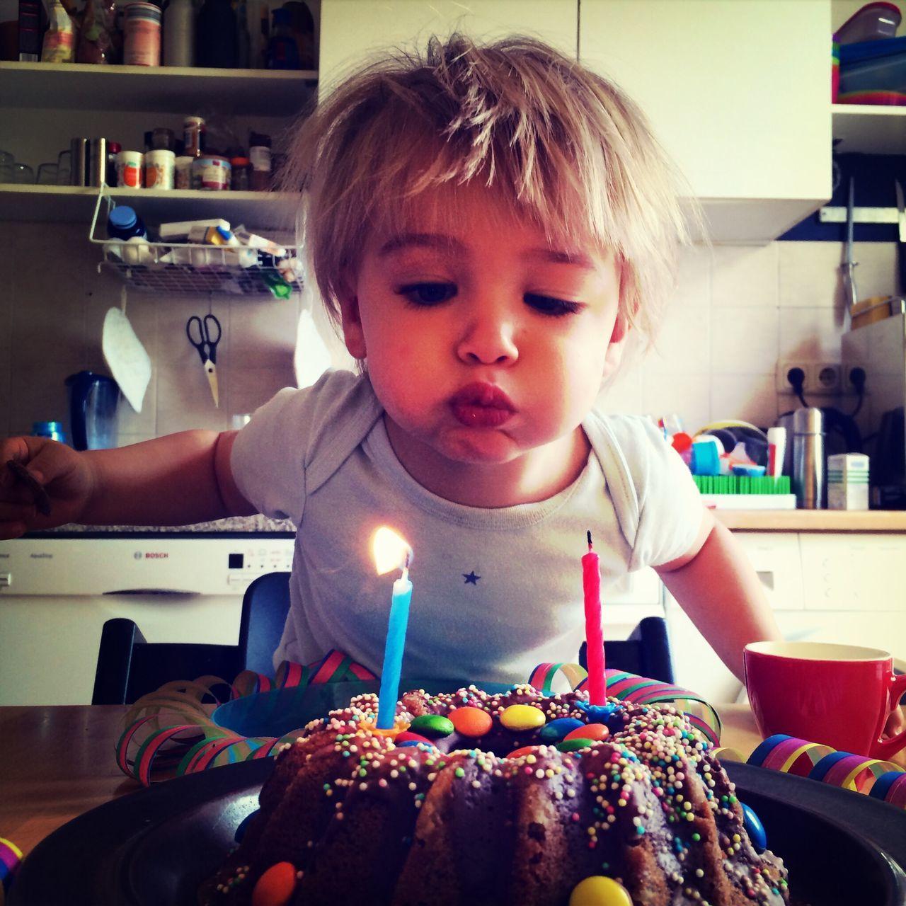 Birthday Birthday Cake Boy Second Birthday By Candlelight The Portraitist - 2015 EyeEm Awards The Moment - 2015 EyeEm Awards