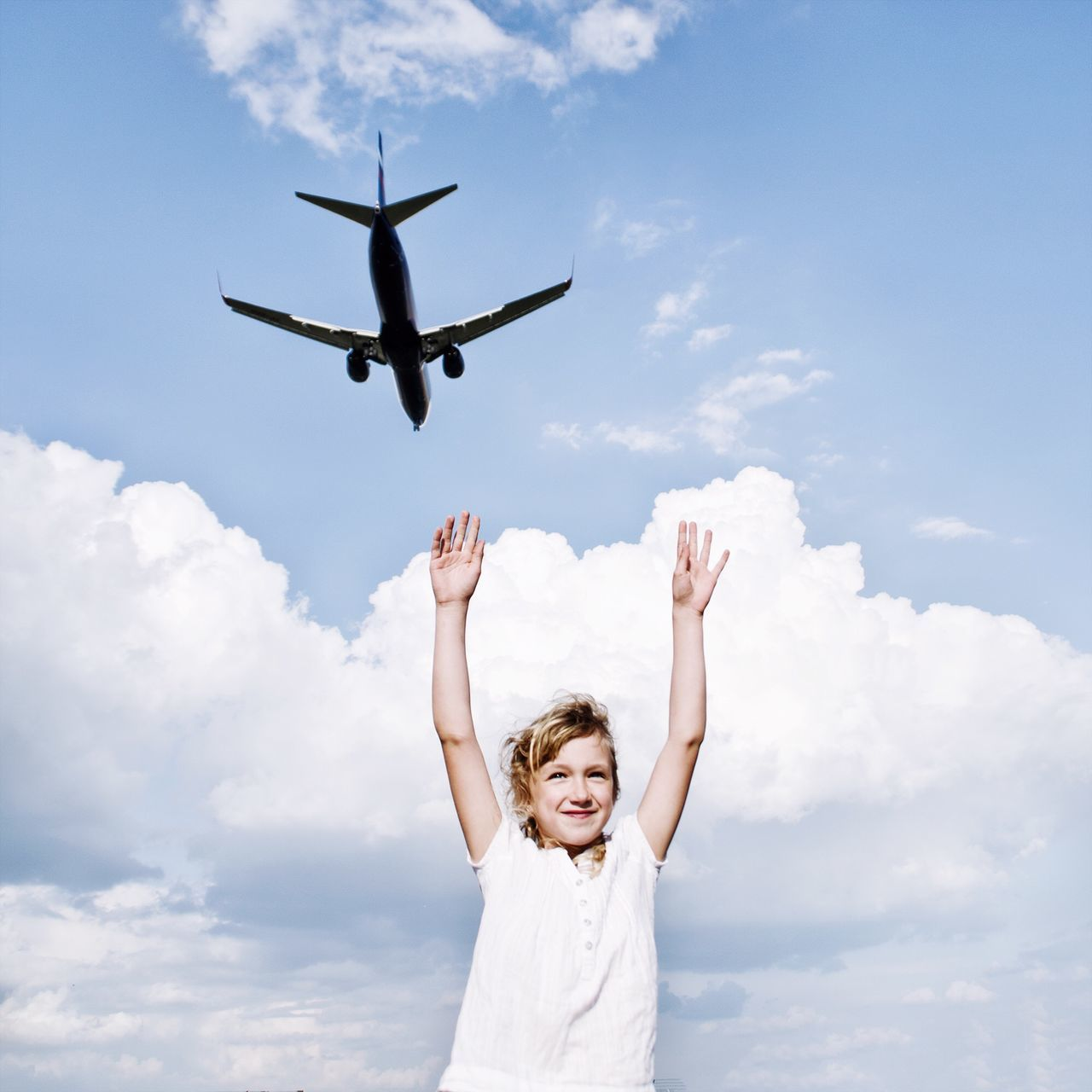 Beautiful stock photos of airplane, Air Vehicle, Airplane, Arms Outstretched, Arms Raised