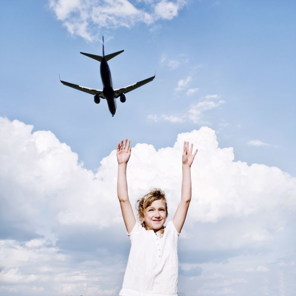 Beautiful stock photos of plane, Air Vehicle, Airplane, Arms Outstretched, Arms Raised