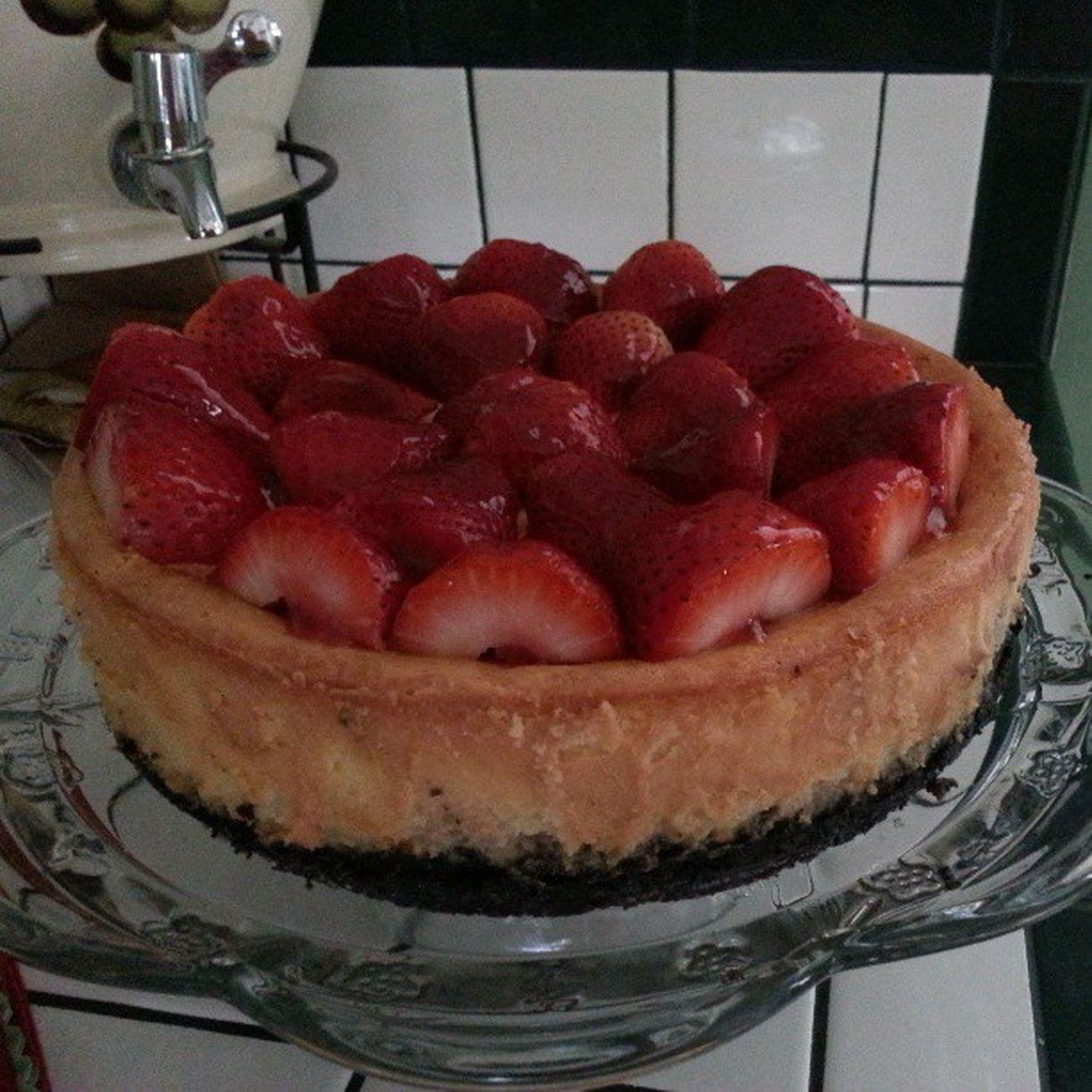 Cheese Cake Homemade Insanelyyummy Strawberry Whitechocolate Todiefor Elegant Sweets Sweet