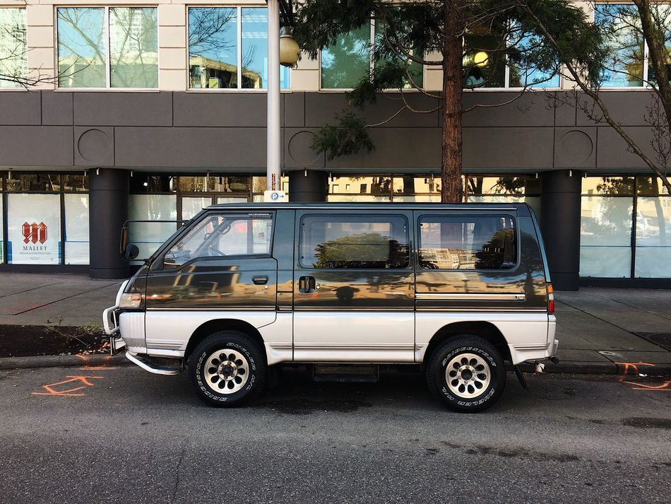 you don't see a Delica every day. downtown. skeedaddle. Vanlife