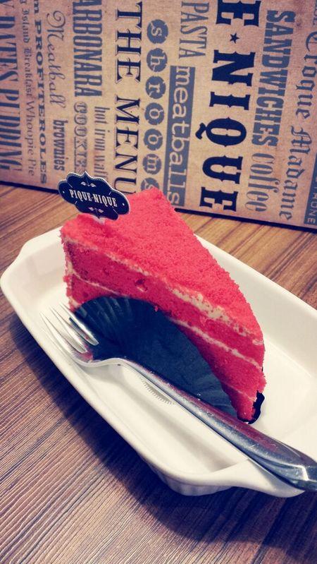 Red Velvet cake Pastries Relaxing Coffee Meeting Friends