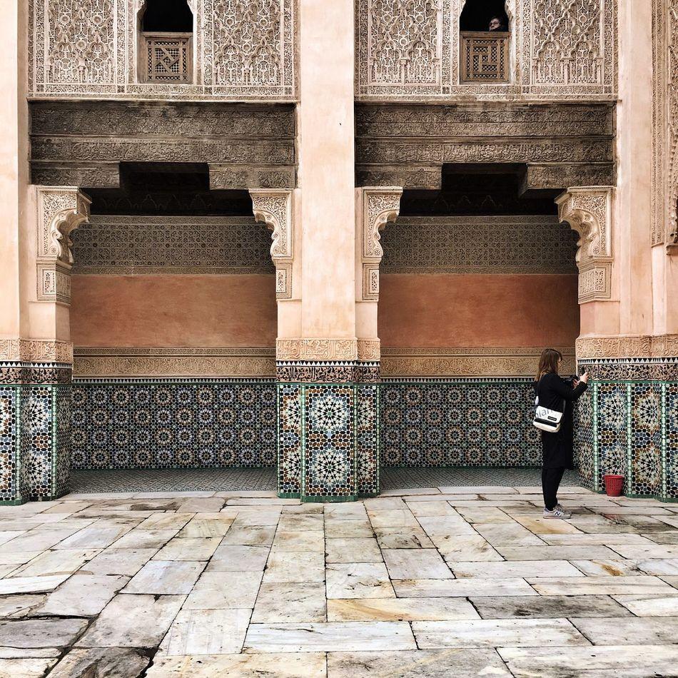 Ben Youssef Madrasa Koran School Morrocan Patterns Colors Of Morroco