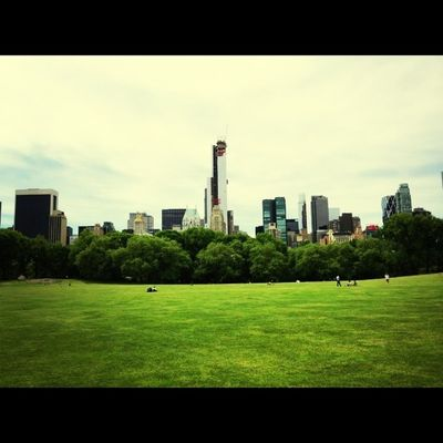 Chilling at Central Park by Marta