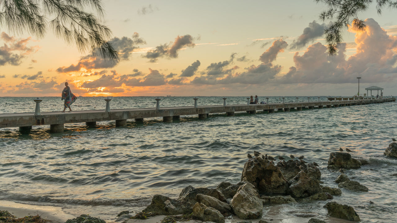 Dock at Rum Point in Grand Cayman Carribean Dock Dusk Grand Cayman Island Night Rum Point Sea Sunset