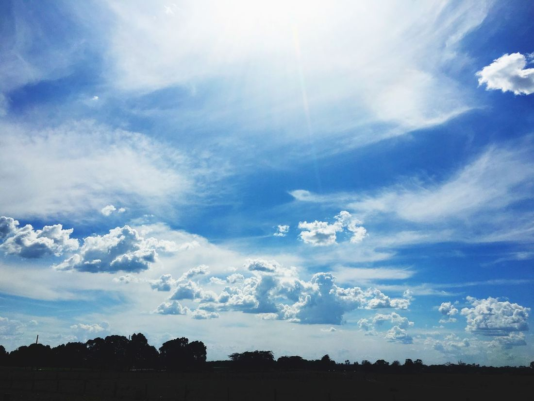 Just Floating Clouds And Sky White And Blue Sky Big Smile Under The Shining Beautiful Nature