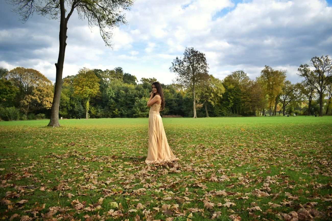 One Person Only Women Cloud - Sky People Day Photographer NIKON D5300 Sky Moments Tranquil Scene Happiness Fashionable Blogger Person Looking At Camera Fashionblogger Long Dress Elegant Dress Young Women