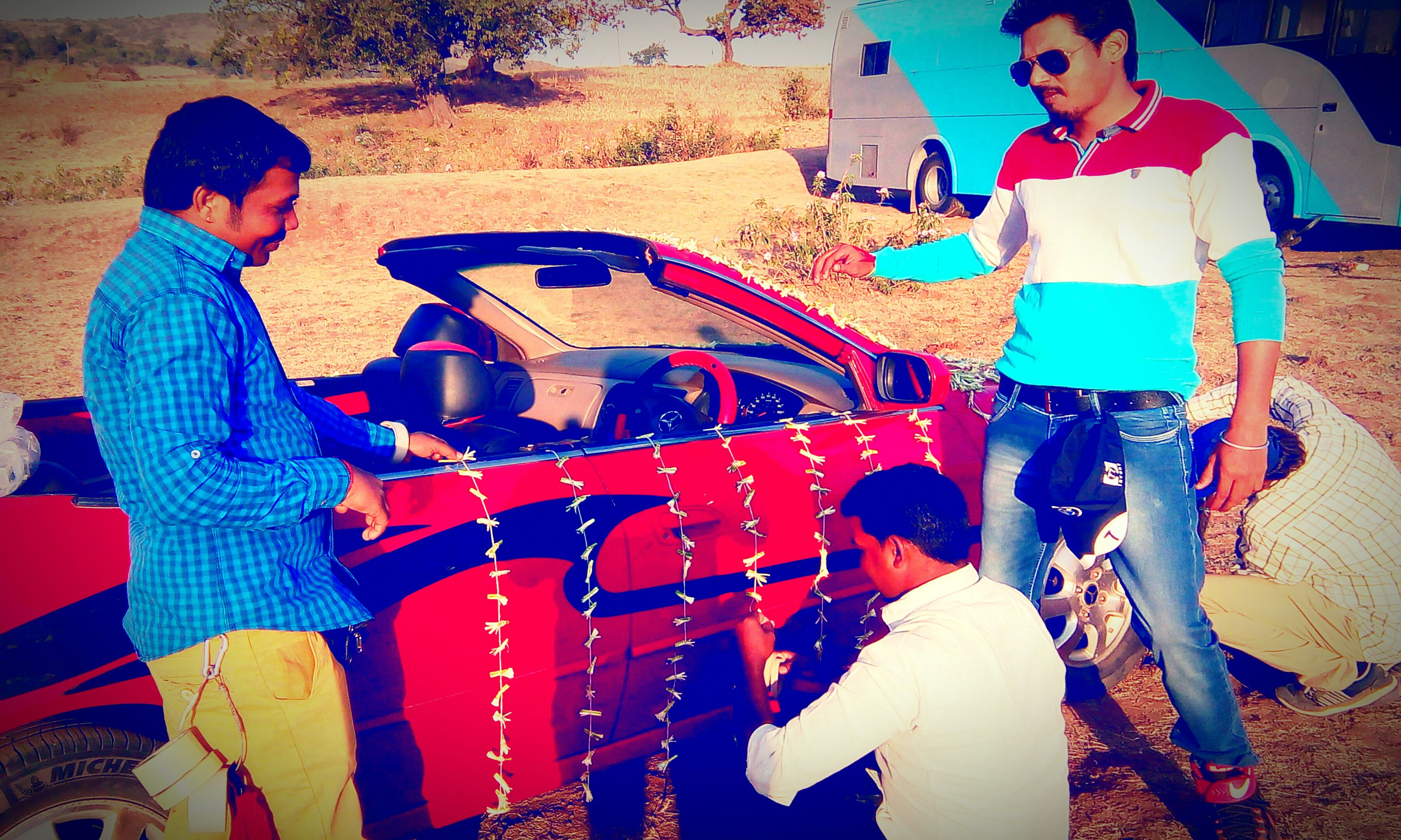 Working on set... This Car Ready for shoot