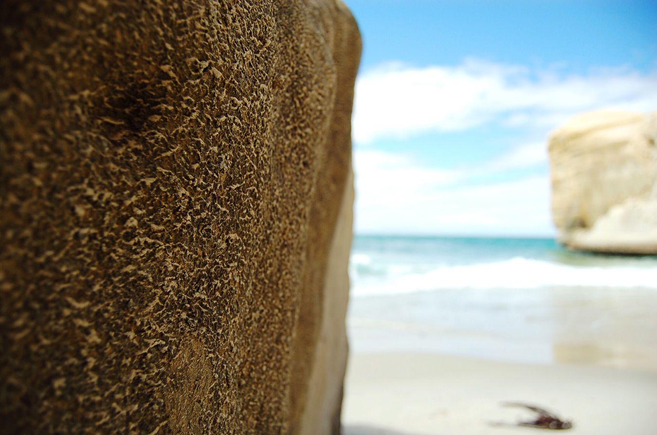 Sea Beach Tunnel Beach Dunedin New Zealand Summer Beach Rocks One Fine Day Landscape