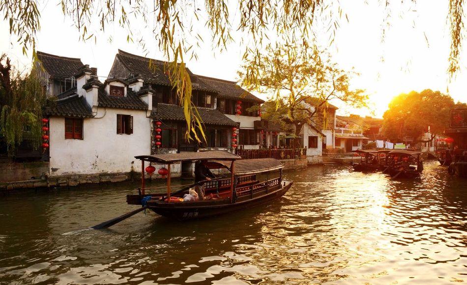 chinaXitang ancient SceneryeDusk Region Of RiverrEnjoying Life Starting A Trip TravelrChinaRelaxingelaXitangi西塘ng 西塘