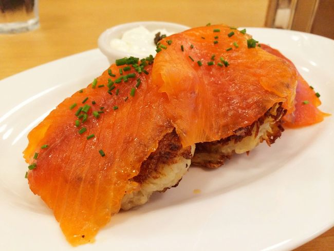 サーモンポテトパンケーキ